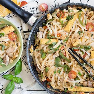 Thai Drunken Noodles - Pad Kee Mao.