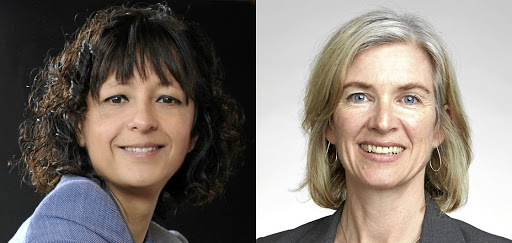 Emmanuelle Charpentier, left, and Jennifer Doudna.