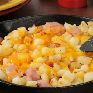 World's Best Ham and Cheese Breakfast Skillet