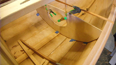 Photo: The hatch was cut out and I epoxied the bulkhead in place