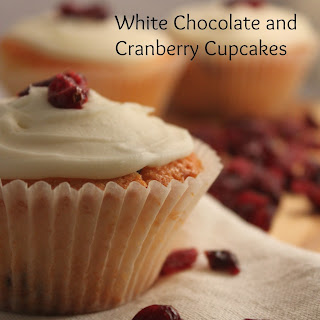 White Chocolate and Cranberry Cupcakes