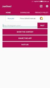 Video Downloader for Instagram – Justload for Inst apk download 2