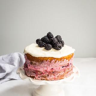 Blackberry Lemon Naked Cake