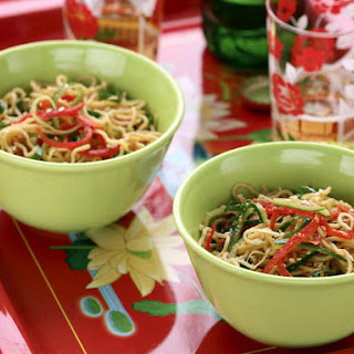 Chilled Noodles with Peanut Sesame Sauce