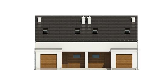 Makolągwa z garażem 1-st. bliźniak A-BL2 - Elewacja przednia