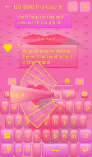 GO短信加强版粉色爱心