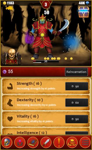 Télécharger Infinite Dungeons( Clicker / Idle  RPG ) mod apk screenshots 5