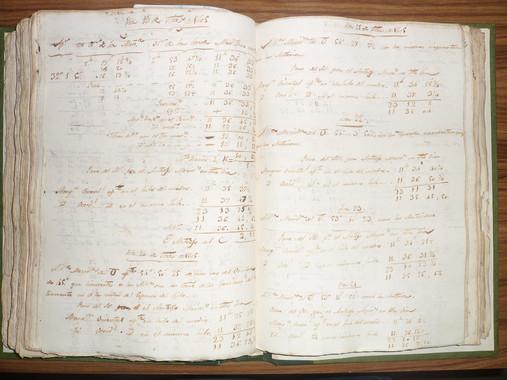 <p>Cuaderno de anotaciones manuscritas sobre el Sol. / ArchivoReal Instituto y Observatorio de la Armada (ROA)</p>