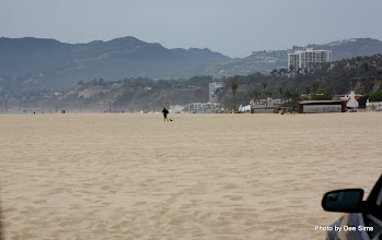 Photo: (Year 3) Day 30 - The Beach of Santa Monica, With a Mountain Backdrop