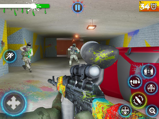 Paintball Arena Shooting: Shooter Survivor Battle apkpoly screenshots 8