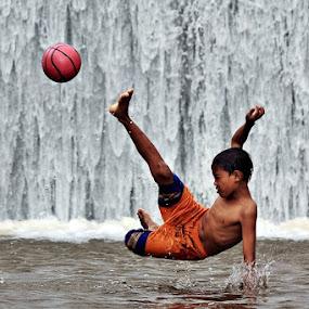 Flying Kick by Kuswarjono Kamal - Babies & Children Children Candids