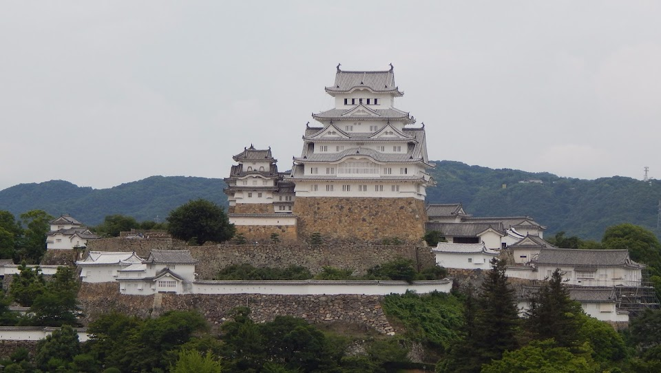 vue panoramique du chateau de Himeji
