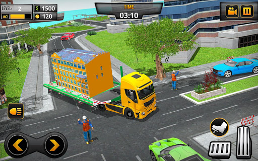 Mobile Home Transporter Truck: House Mover Games 1.0.4 screenshots 5