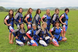Photo: Les filles des équipes de France de PAV & VC, Banjaluka 2014