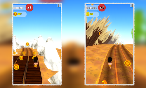 Cave Man Runner 3D screenshot 3