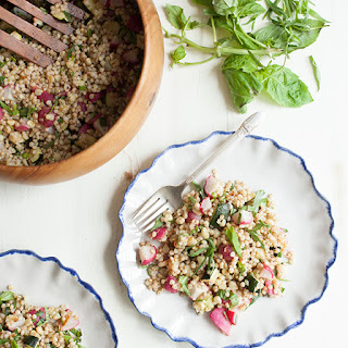 Sorghum and Roasted Summer Vegetable Salad with Tarragon and Basil (gluten free)