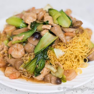 Fried Noodles with Chicken and Shrimp