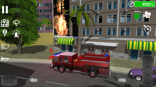 Fire Engine Simulator captures d'u00e9cran 2