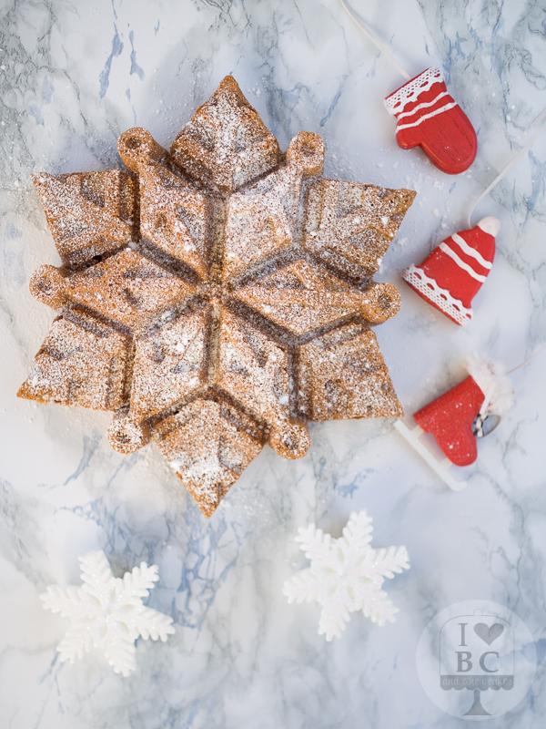 Dulce de Leche Snowflake Cake