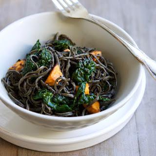 Black Bean Noodle Salad with Tamari Dressing.
