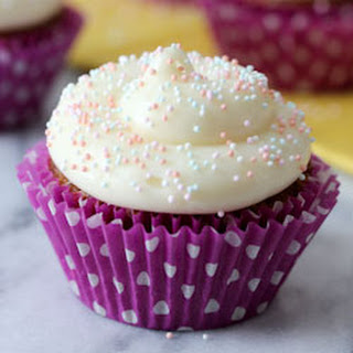Carrot Cake Cupcakes with Maple Cream Cheese Frosting.