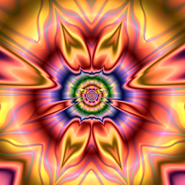 Flower colorful by Cassy 67 - Illustration Abstract & Patterns ( modern, colorful, digital art, fractal art, flowers, fractal, digital, fractals, flower )