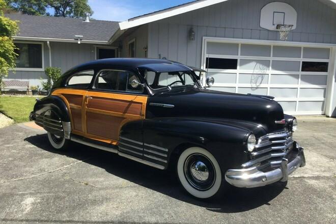 1947 Chevrolet Fleetline Country Club Aerosedan Hire CA