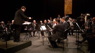 La Banda Municipal, durante una actuación.