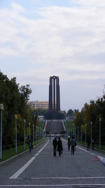 Monument in Bucharest Carol Park