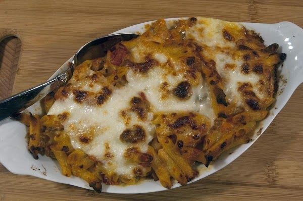 Remove from oven, allow the dish to cool slightly, and serve with some nice...