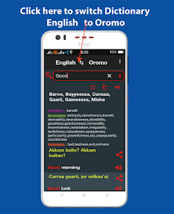 English Afaan Oromo Dictionary Offline - náhled