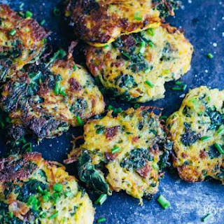 Bacon and Kale Spaghetti Squash Fritters