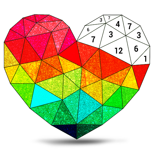 Poly Art Glitter: Color by Number, Coloring Puzzle Icon