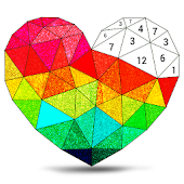Poly Art Glitter: Color by Number, Coloring Puzzle