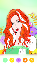 Coloring Fun : Color by Number Games APK screenshot thumbnail 1