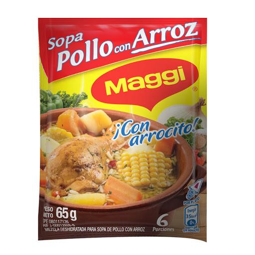 sopa maggi pollo con arroz 65gr