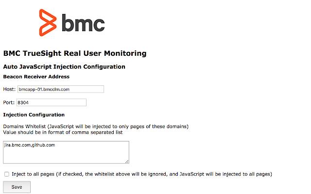 BMC TrueSight Real User Monitoring Plugin