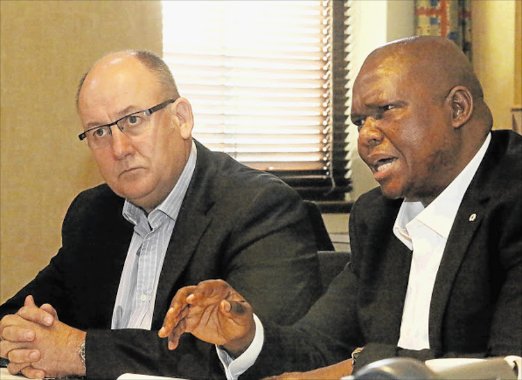 Nelson Mandela Bay Metro mayor Athol Trollip, left, and former deputy mayor Mongameli Bobani of the UDM.