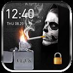 2018 Skull Lighter Lock Screen - Click to Unlock Icon