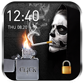 2018 Skull Lighter Lock Screen - Click to Unlock