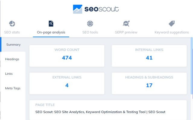 SEO Tool Extension: Meta + Keywords Checker