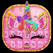 Unduh Pink Unicorn Kitty Keyboard Gratis