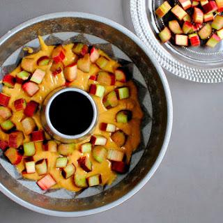 Bergamot and Rose Rhubarb Cake