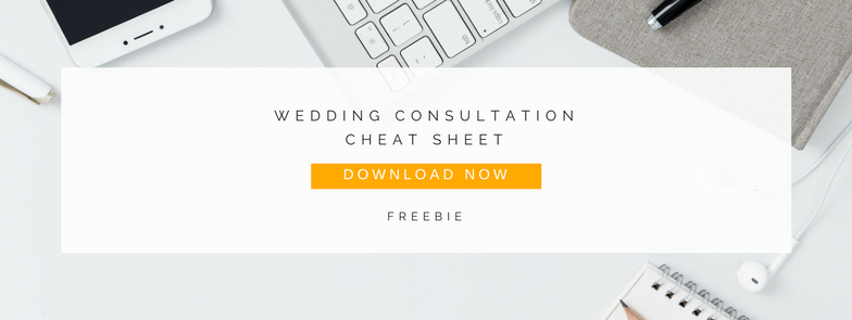 wedding photography consultation cheat sheet