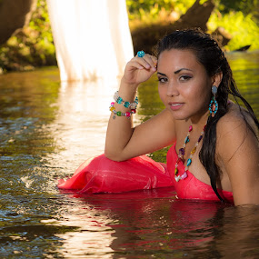 Girl in River by Dirk Dreyer - People Portraits of Women ( outdoor, portrait, beautiful, woman )