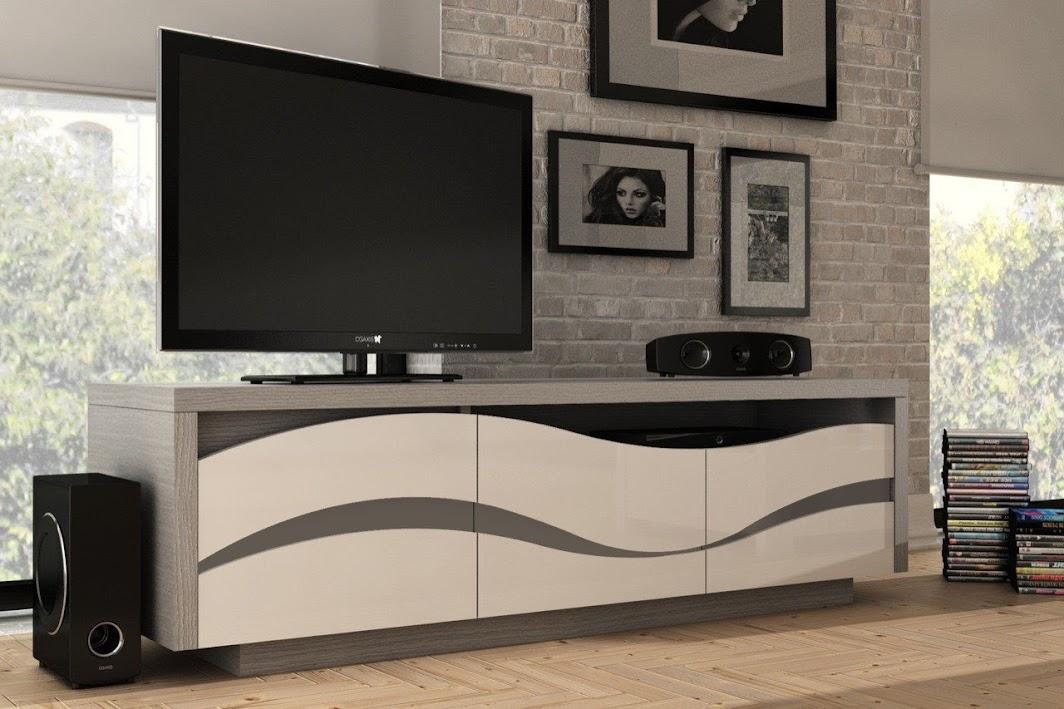 Porta TV moderno Fiorella, L170 H50 P50, mobili per soggiorno con led