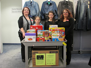 Photo: Food donation from Macy's employees!