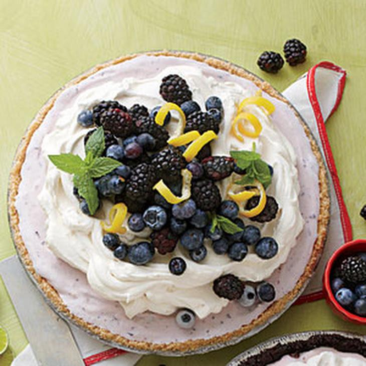 Blueberry-Cheesecake Ice-Cream Pie Recipe