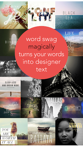 Screenshot for Word Swag - 2018 Classic Edition in United States Play Store