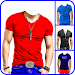 Men T-Shirt Designs Photo Montage Icon
